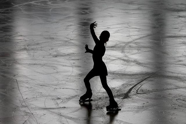Figure Skating, Runner, Figure Skater, Silhouette