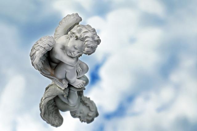 Angel, Figure, Sitting, Sleeping, Mirroring, Sky