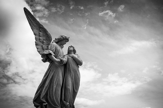 Angel, Sculpture, Cemetery, Figure, Statues, Angelic