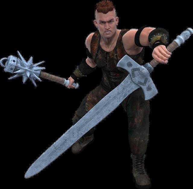 Man, Warrior, War, Weapon, Sword, Figure, Battle