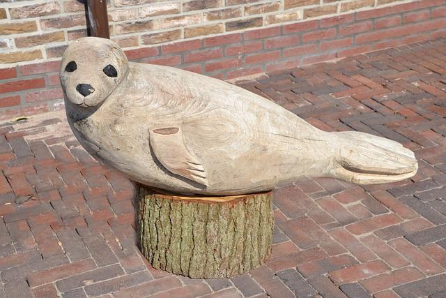 Texel, Robbe, Carving, Animal, Wood, Figure, Wood Model