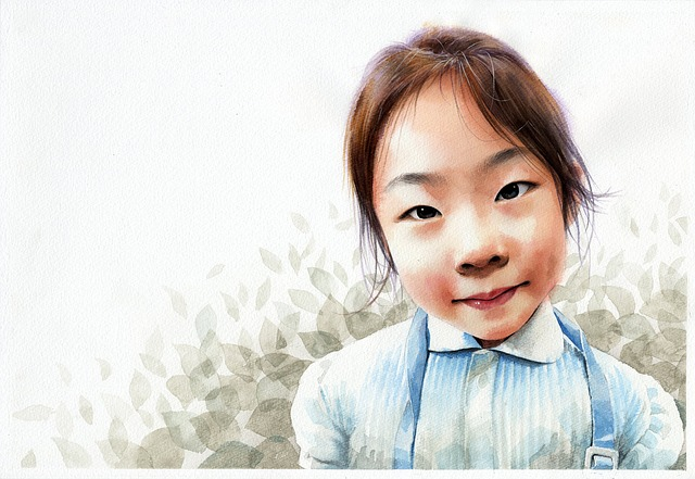 Watercolor Portrait, Figure, Watercolor