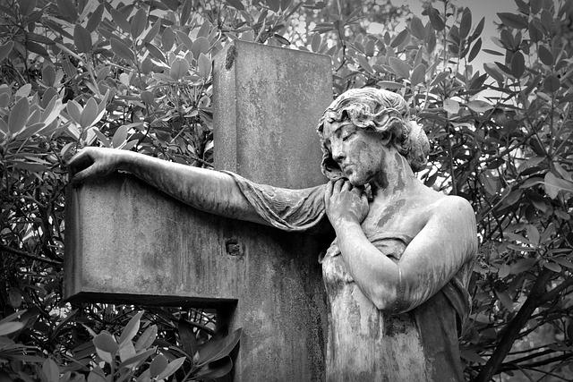 Statue, Figure, Sculpture, Woman, Art, Face, Tombstone