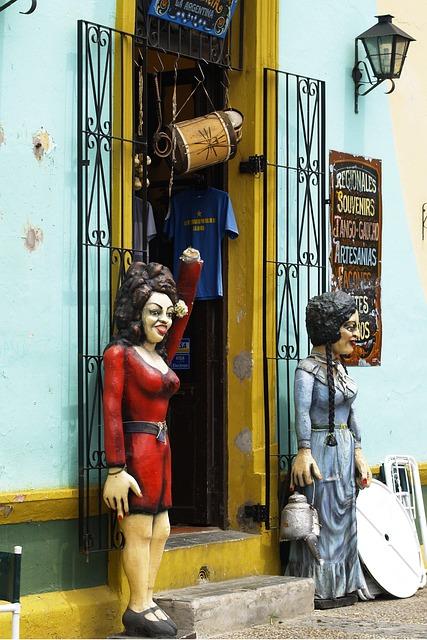 Caminito, Buenos Aires, Door, Figures, Building, City