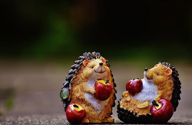 Hedgehog, Figures, Decoration, Animal, Cute, Funny, Fun