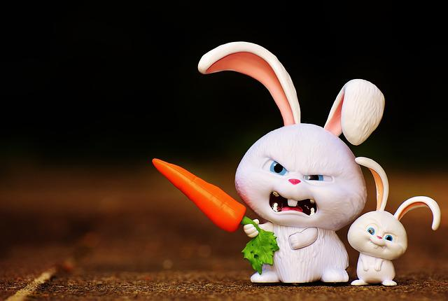 Hare, Evil, Snowball, Film Character, Pets, Funny, Cute