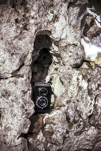 Old, Camera, Technology, Film, Analog, Nature, Rock