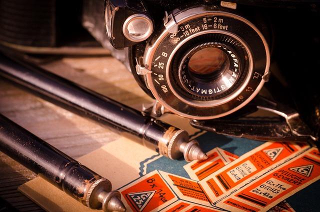 Agfa, Vintage, Camera, Film, Tripod, Retro, Analog