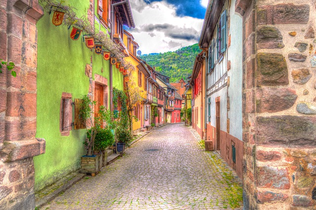 Kaysersberg, Alsace, France, Photo Filter, Filter