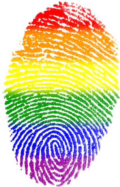 Fingerprint, Gay, Flag, Symbol, Finger, Rainbow