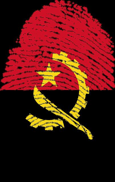 Angola, Flag, Fingerprint, Country, Pride, Identity