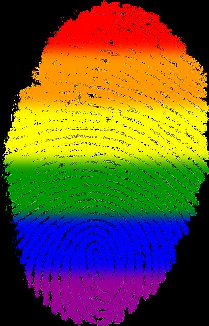 Fingerprint, Gay, Flag, Symbol, Finger, Rainbow