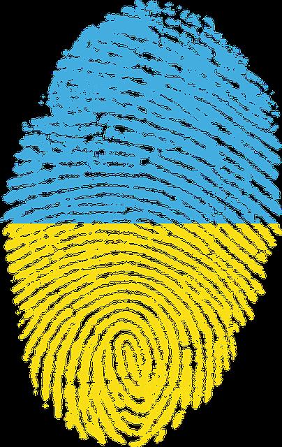 Ukraine, Flag, Fingerprint, Country, Pride, Identity