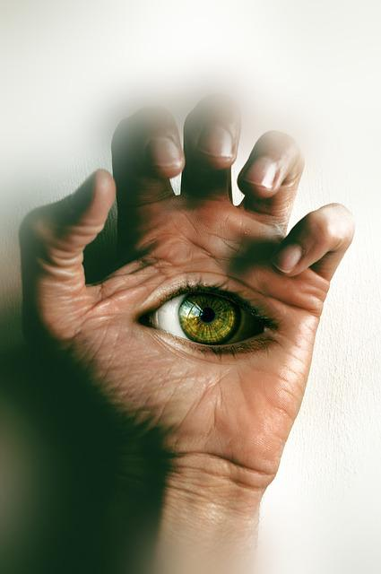 Surrealism, Hand, Eye, Fingers, Eye Open