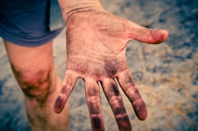 Hand, Fingers, Skin, Texture, Person, Dirty, Touch