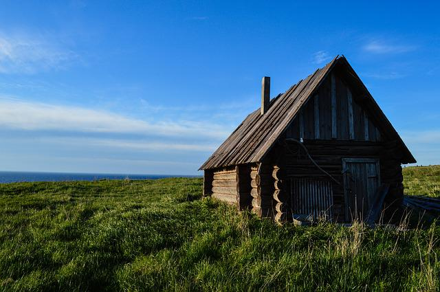 Beach, Norway, Finland, Russian North, Old House