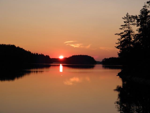 Summer, Sunset, Savonlinna, Saimaa, Finland, Finnish