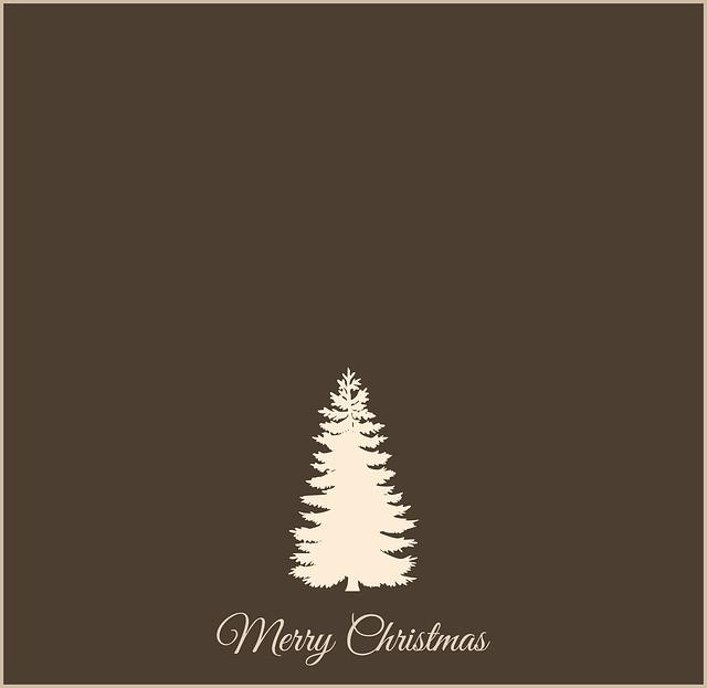 Christmas, Christmas Tree, Fir, Greeting Card