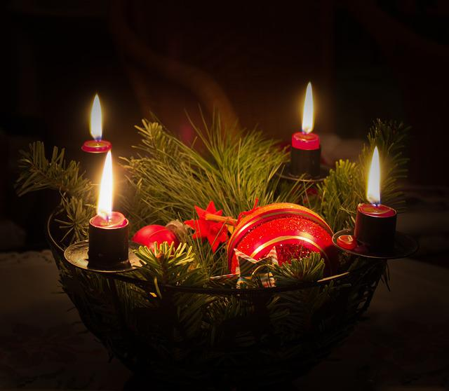 Christmas, Candles, Fir Green, Advent