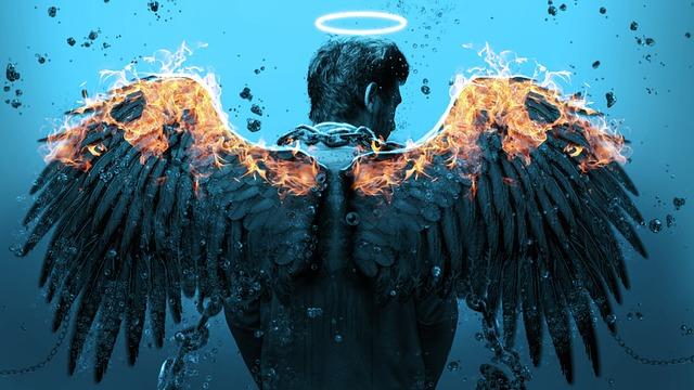Wings, Fire, Angel, Fantasy, Wing, Dragon, Devil