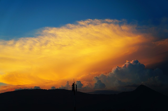 Clouds, Sunset, El Salvador, San Salvador, Fire, Sky
