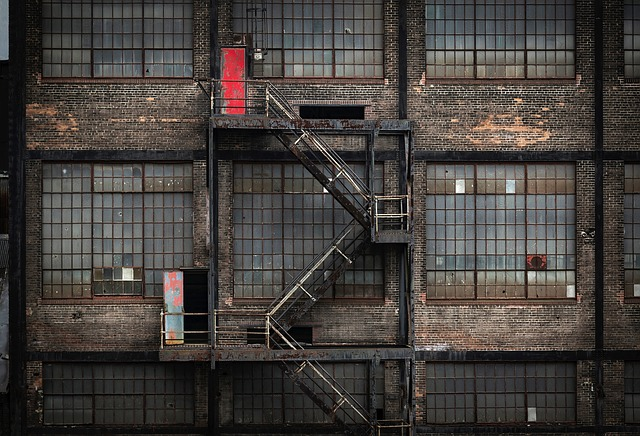Factory, Building, Abandoned, Fire Escape, Architecture