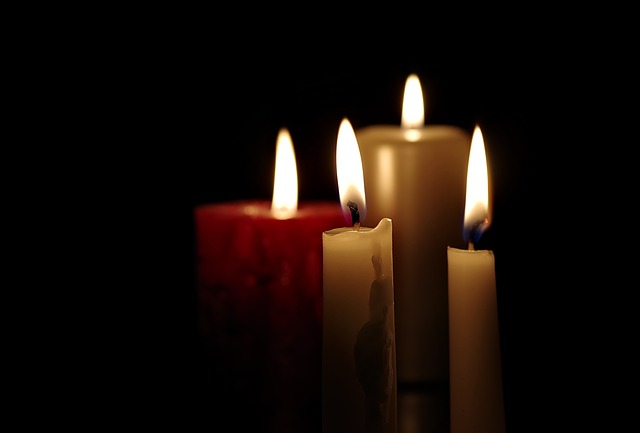 Candles, Four, Advent, Fire, Evening, Chandelier
