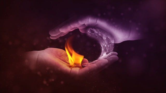 Yin And Yang, Fire, Water, Hand, Opposites, Balance