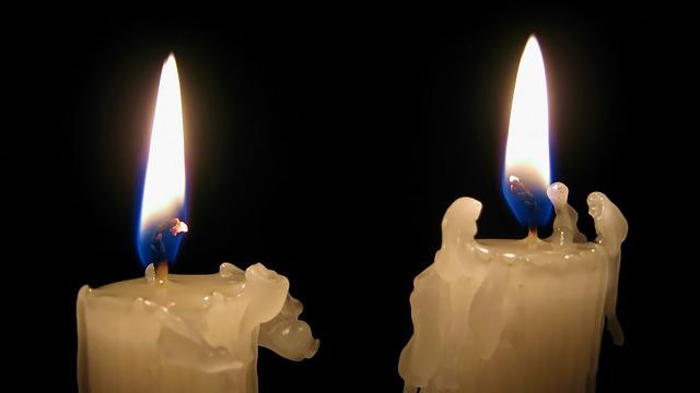Candle Light Darkness Fire & Free photo Alone White Candles Black Still Alive Dark Light - Max ... azcodes.com