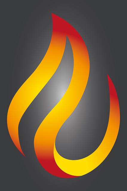 Flame, Fire, Vector, Logo, Design, Teardrop, Drip