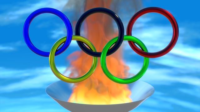 Sport, Olympiad, Rings, Fire, 3d, Blender