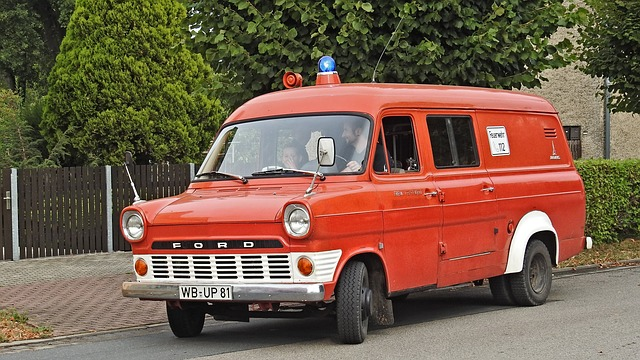 Fire Truck, Fire, Ford Transit, Oldtimer, Historically
