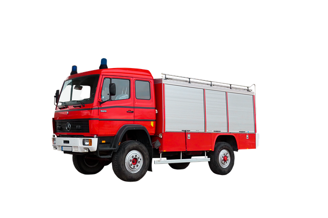 Transport, Traffic, Fire Truck, Vehicle, Isolated