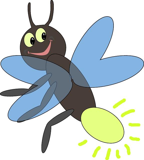 Firefly, Bug, Lightning, Insect, Smile, Backyard, Yard