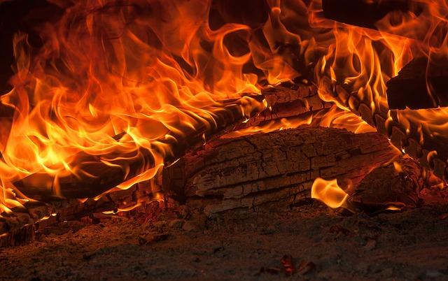 Fire, Flames, Fireplace, Ash