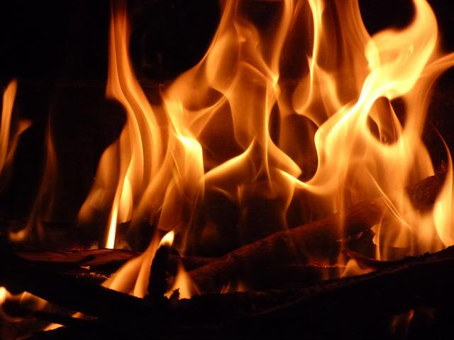 Fire, Fireplace, Winter, Flames