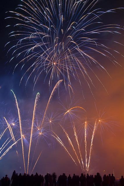 Firework, Silvester, Night, Event, Color, Dark