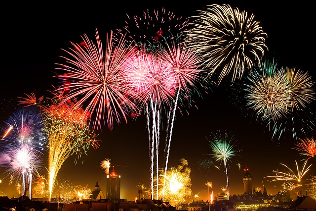 New Year's Eve, Leipzig, Fireworks, Fire, Fireworks Art
