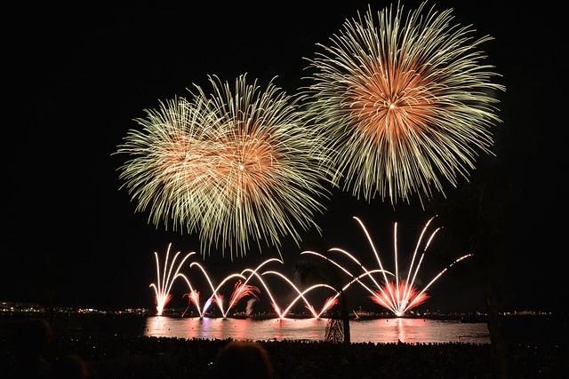 Fireworks, Rocket, Night, Sky, Sylvester