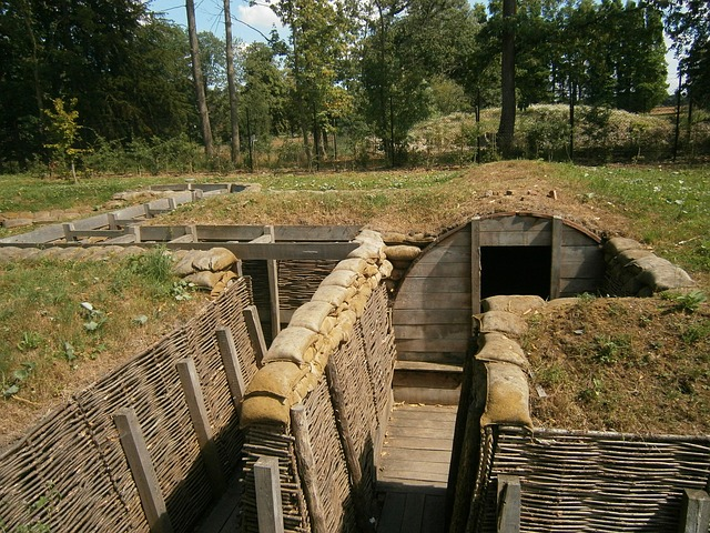 Trench, Replica, First World War, War, Passchendaele