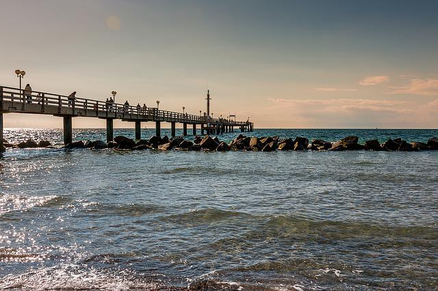 Sea Bridge, Ostseebad Wustrow, Fischland, Baltic Sea