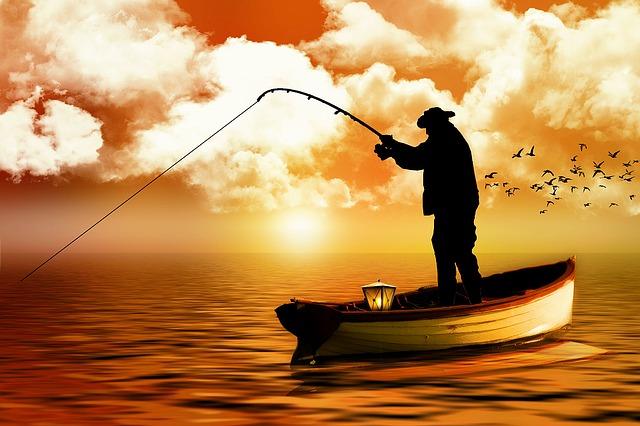 Fisherman, Boat, Fishing, Sea, Water, Lake, Fish