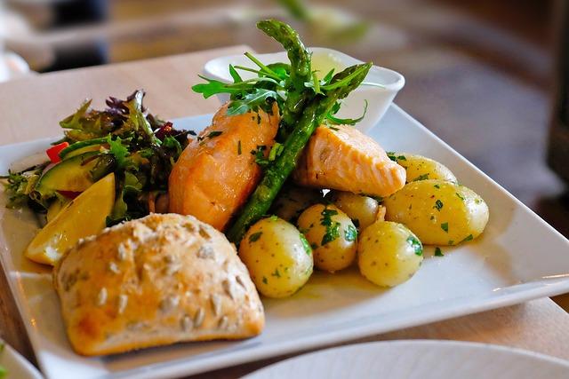 Delicious, Yummy, Lunch, Dinner, Fish, Potato, Bread