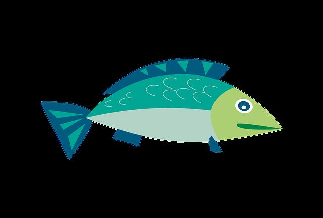 Clipart, Fish, Sea, Water, Swim, Cartoon, Underwater