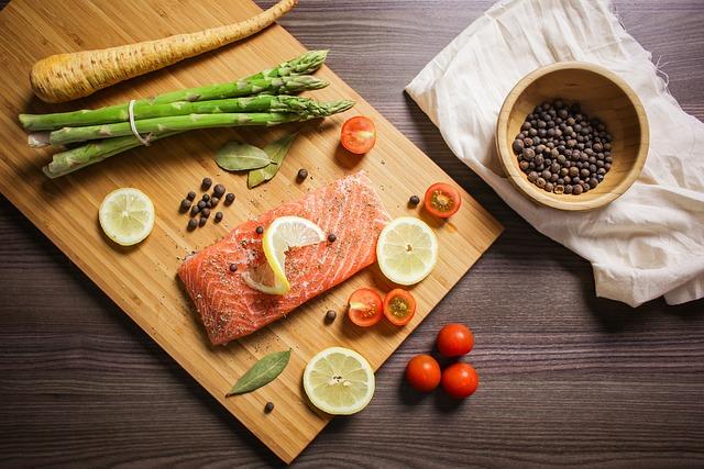 Food, Foodie, Bake, Salmon, Fish, Citrus, Vegetables