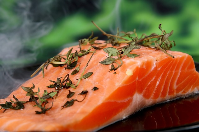 Salmon, Cooked, Food, Fish, Herbs, Delicious, Red