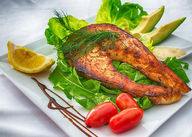 Salmon, Fish, Grilled Fish, Grill, Dish, Gourmet, Plate