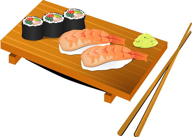 Sushi, Chopsticks, Fish, Food, Japan, Japanese, Rice