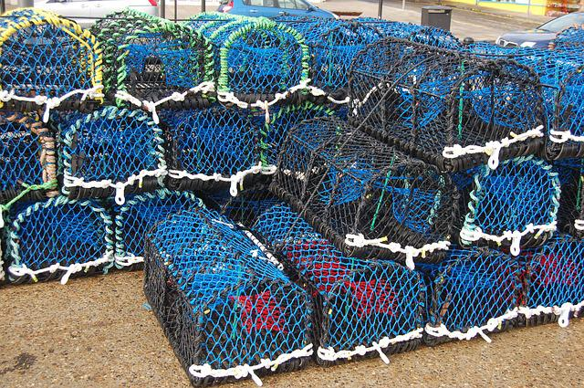 Fishing Nets, Fisherman, Ocean