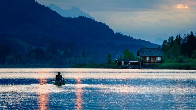 Lake Weissensee, Carinthia, Fisherman, Boat Trip